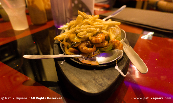 Juicy prawns - Bar-b-que Sizzler