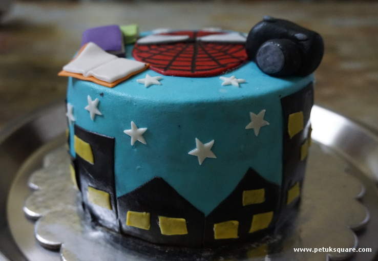 Wasted Chocolate Spiderman Cake