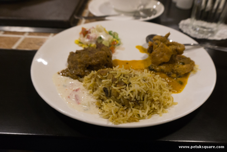 Lucknowi Murg Biryani with Shahi Murg Makhanwala and Mutton Kassa