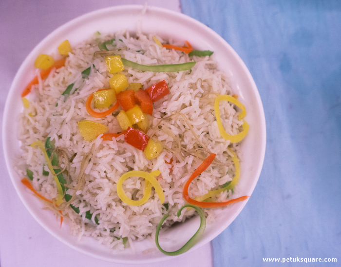 Ginger Capsicum Flavoured Fried Rice