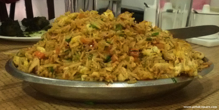 The huge serving of Mixed Szechwan Rice