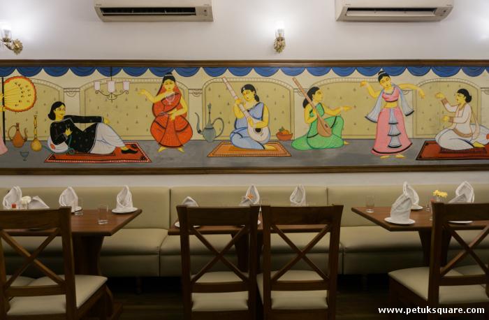 The interiors of Sudipar Rannaghar