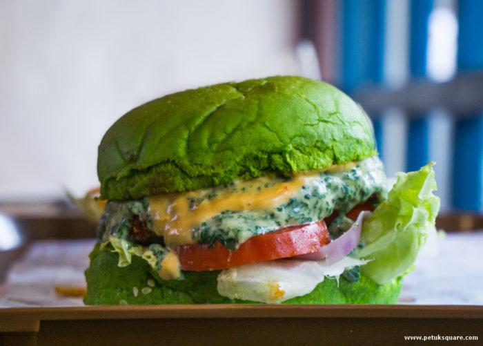 Palak Paneer Burger